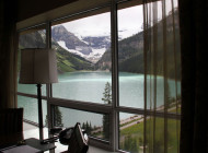 The Beauty of Lake Louise From a Hotel Balcony