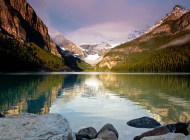 The Calm and Tranquil Waters of Banff Lake Louise