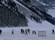 Alberta Pond Hockey Championship at Banff Lake Louise