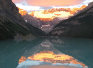 Sunrise in Lake Louise and Banff National Park