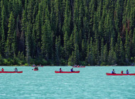 Row, Row, Row Your Boat on Banff Lake Louise